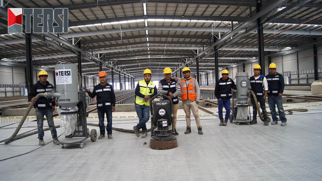 colocación de piso epoxico grupo tersi toluca tren urbano proyecto
